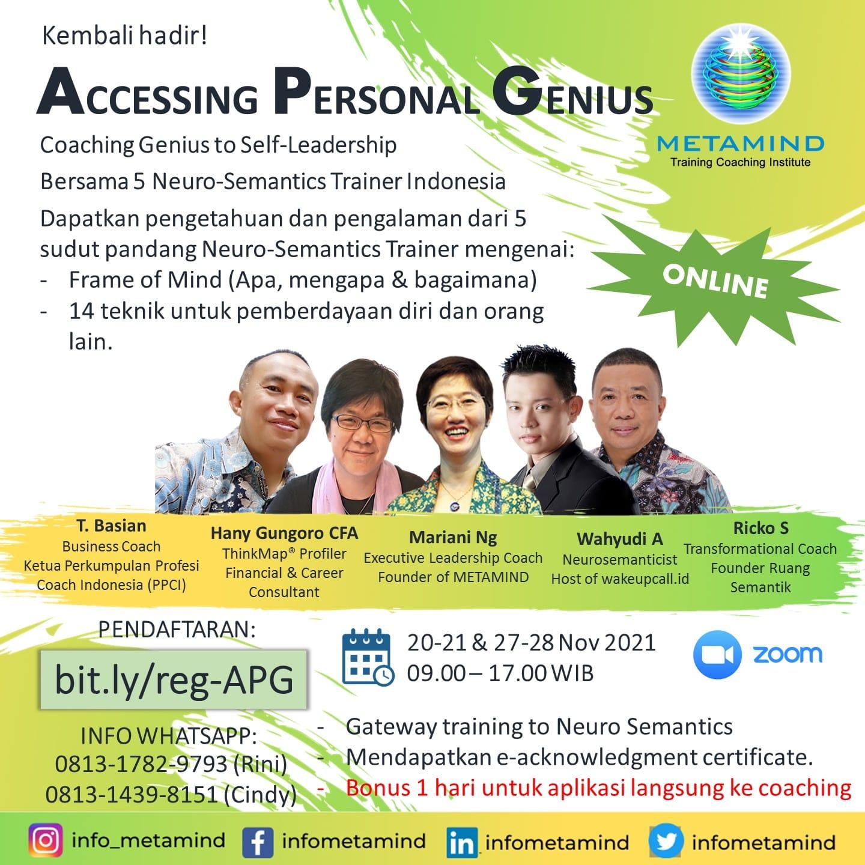 accessing personal genius